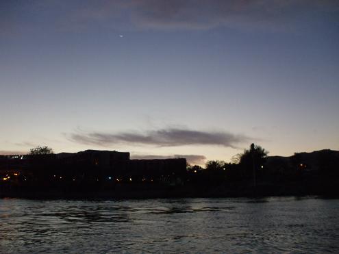 エジプト旅行:帆船ファルーカ 夕暮れ