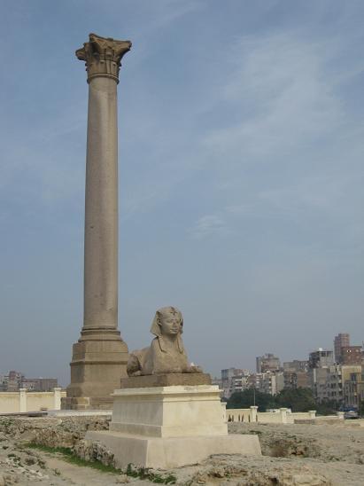 エジプト旅行:アレキサンドリア ポンペイの柱②