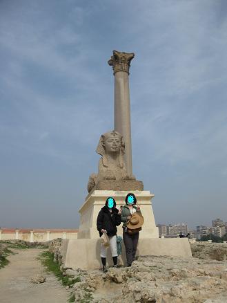 エジプト旅行:アレキサンドリア ポンペイの柱③