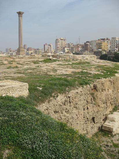 エジプト旅行:アレキサンドリア ポンペイの柱④
