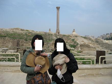 エジプト旅行:アレキサンドリア ポンペイの柱