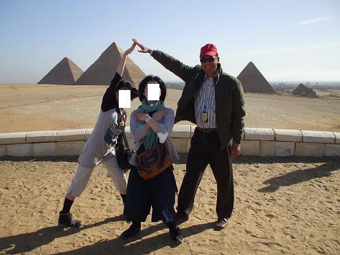 エジプト旅行:ギザの3大ピラミッド