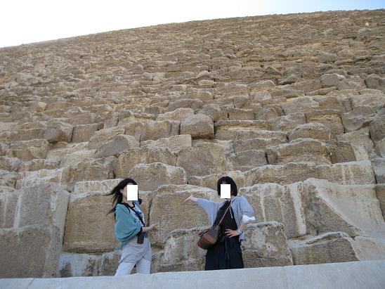 エジプト旅行:クフ王のピラミッド②