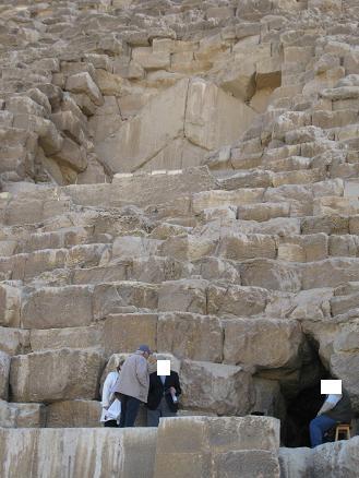 エジプト旅行:クフ王のピラミッド③