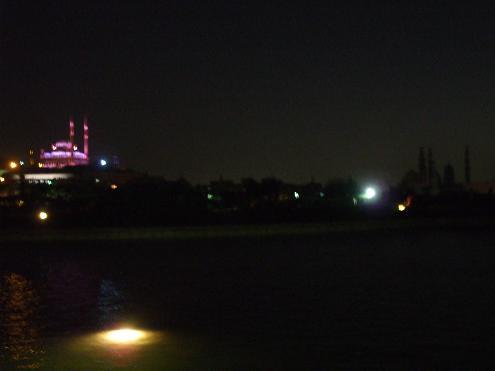 エジプト旅行:アズハル公園 モスク ライトアップ
