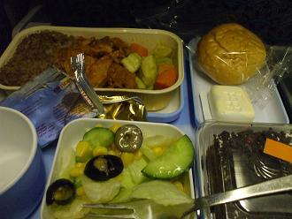 エジプト旅行:機内食