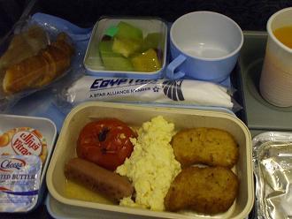 エジプト旅行:機内食②
