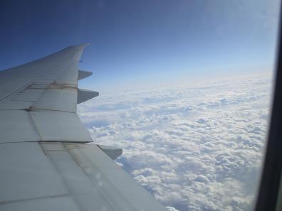 エジプト旅行:飛行機