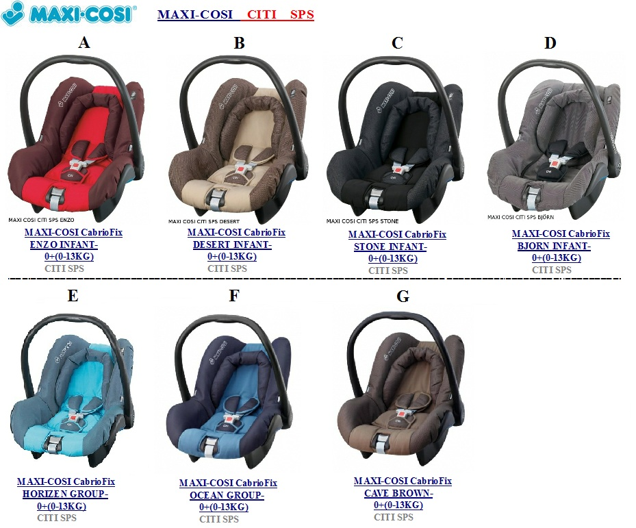 maxi cosi cabriofix maxi cosi citi sps. Black Bedroom Furniture Sets. Home Design Ideas