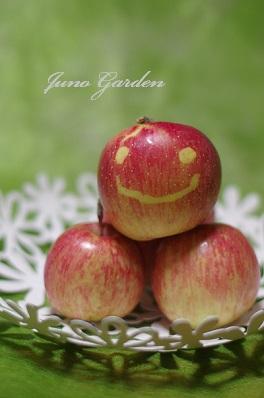 りんご日焼け
