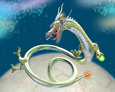 3DCG壁紙 鉄龍と星