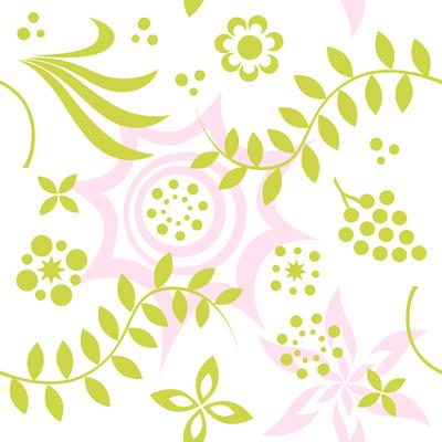 草花パターンテクスチャ1