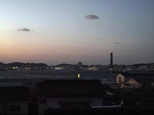 関門海峡の夕暮れ01-20140101