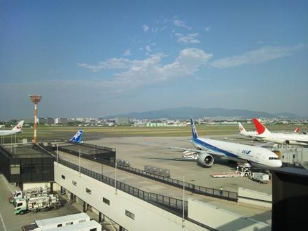 大阪空港展望デッキからの眺め