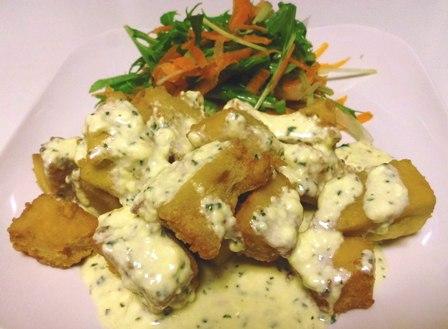 高野豆腐の鶏南蛮風