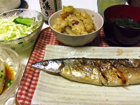 秋の気配な夕食