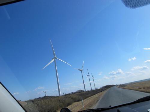 竜洋 風力発電風車