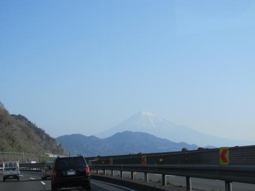 清水 貨物列車と富士山