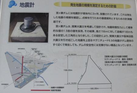 宮ヶ瀬ダム 地震計