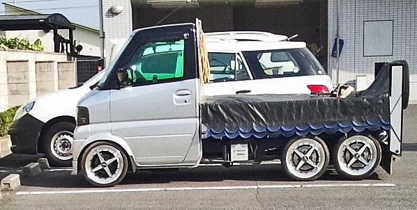 軽トラ6輪車