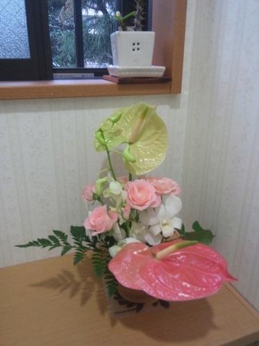 トイレに花