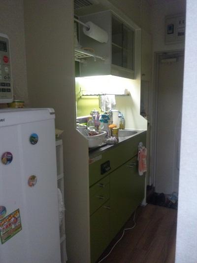 極狭キッチン