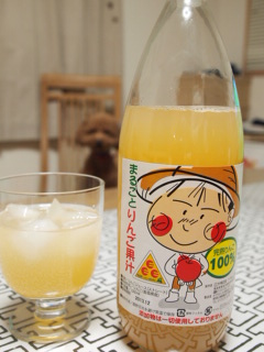 リンゴジュース。