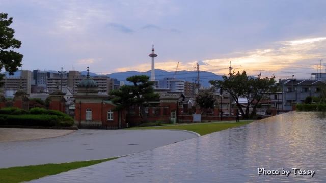 黄昏の京都の空