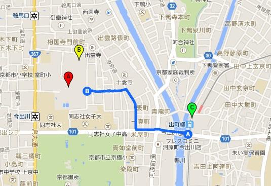 相国寺地図