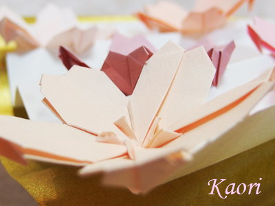 クリスマス 折り紙:折り紙 さくら-kaorinpap.blog.fc2.com