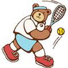H240829 熊のテニス