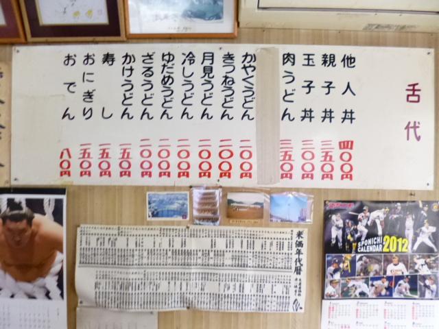 下には米価年代暦です
