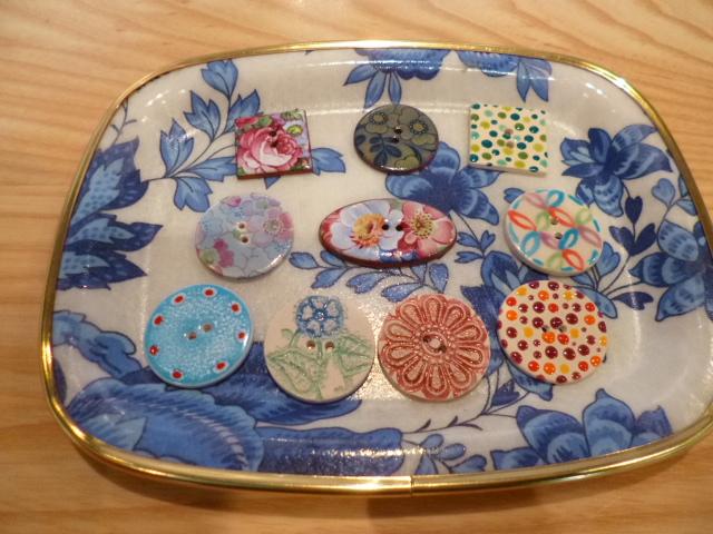 STORE1894で買ったお土産 イギリス製の陶器のボタン