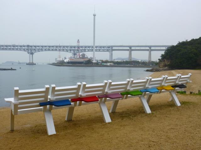 瀬戸大橋もコンビナートも間近です