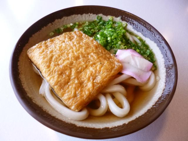 きつねうどんです 麺はおおみね製麺の袋麺です