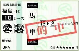 2013 雪うさぎ賞 馬単