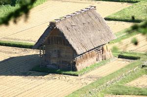 秋の合掌小屋