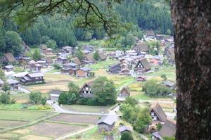 荻町城跡地からの眺め(ひぐらし)