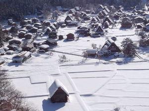 全景~冬の白川郷