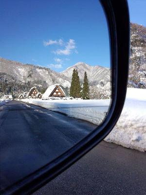 車載ミラー風景②かん町 附近