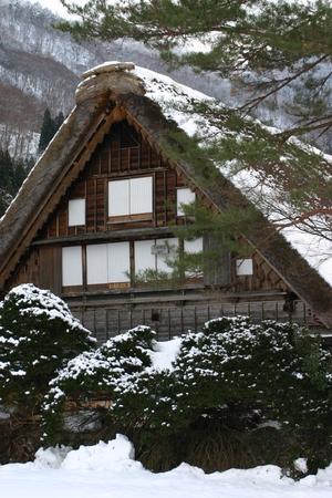 和田家 合掌造り 冬