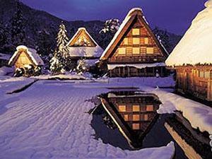 白川郷ライトアップ 冬のイベント 2013-1月19日(土)が第1回目