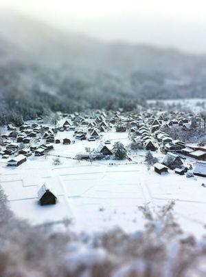 冬の景色 白川郷
