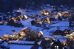 白川郷ライトアップ 1月19日 第1回 開催