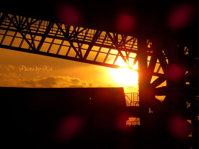 埼玉スタジアムから見た夕日♪
