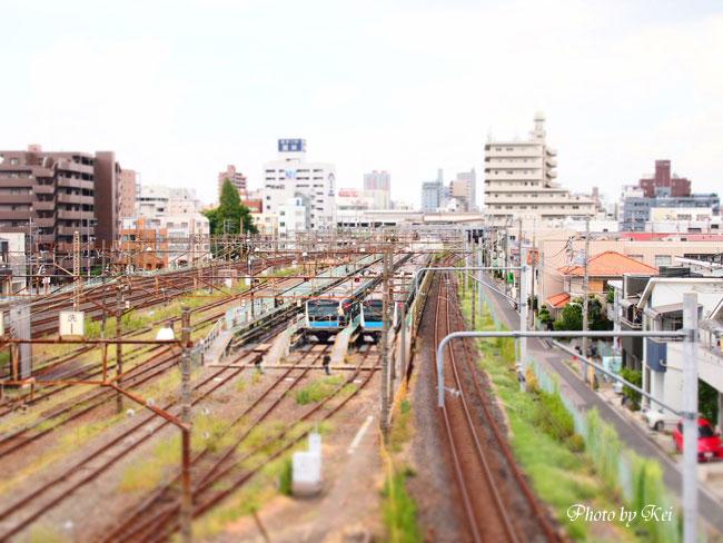 電車の見える風景♪