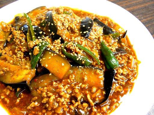 韓国風麻婆茄子