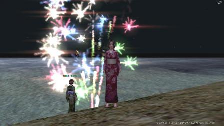 花火と浴衣と家臣と私