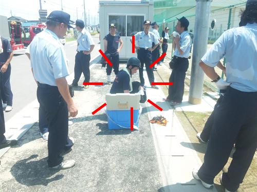 消防操法岐阜県大会2012年7月18日会場訓練in羽島 (5)