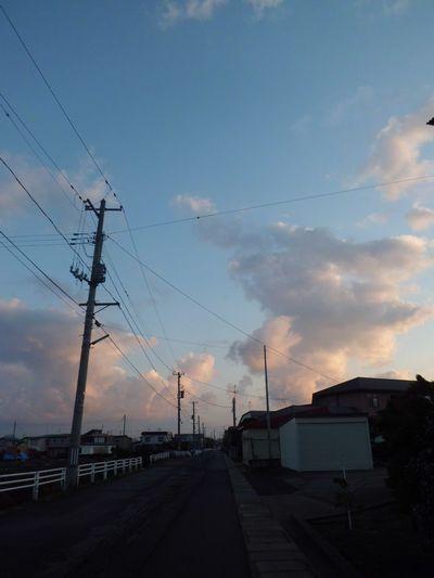 日の出まえの空